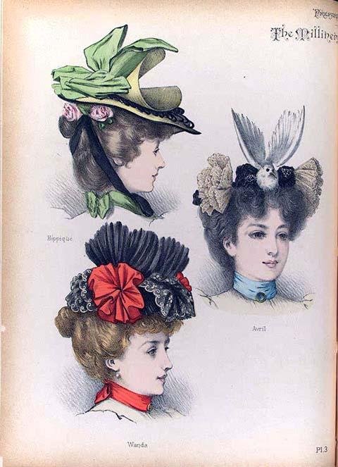 chapeau � plumes et � fleurs